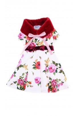 Sukienka ecru w czerwone róże, Special Day