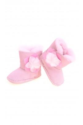 Różowe niemowlęce botki, UGG