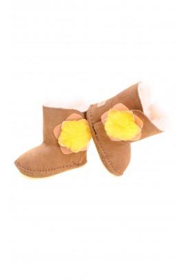 Brązowe niemowlęce botki, UGG