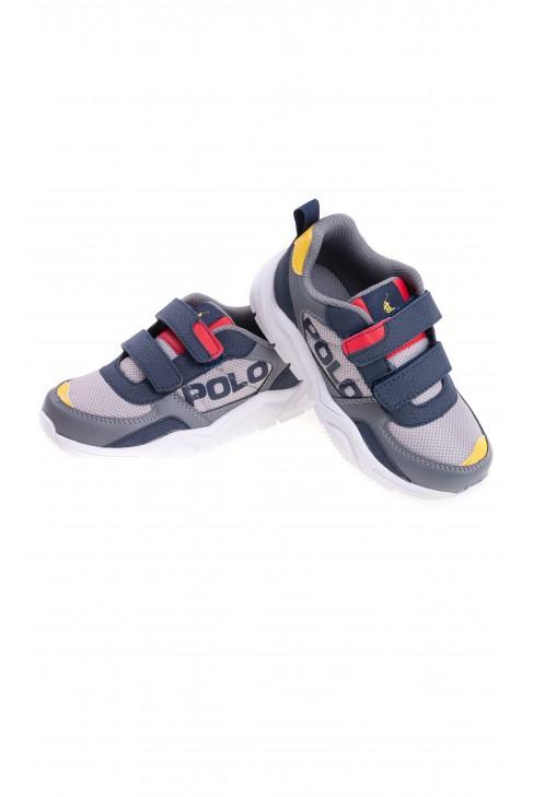 Szare sneakersy chłopięce, Polo Ralph Lauren