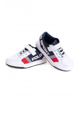 Białe buty sportowe zapinane na rzep, Polo Ralph Lauren