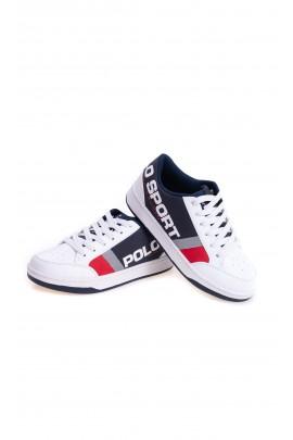 Biało-granatowe buty sportowe chłopięce, Polo Ralph Lauren
