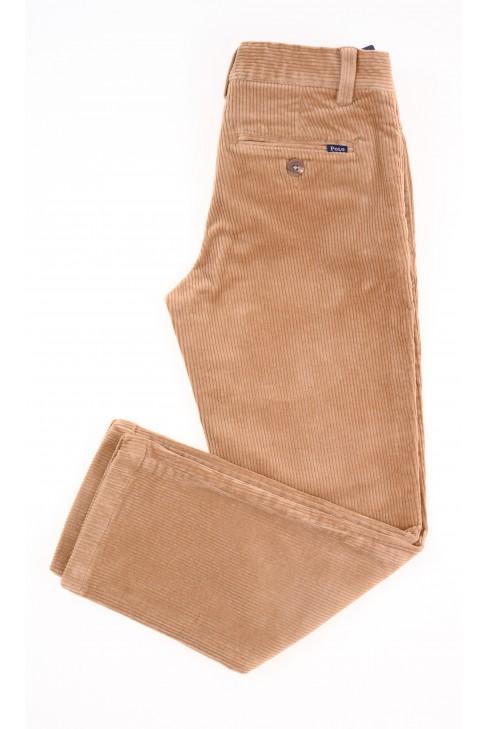 Beżowe spodnie chłopięce ze sztruksu, Polo Ralph Lauren