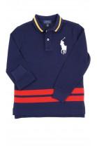 Granatowa koszulka polo na długi rękaw, Polo Ralph Lauren