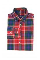 Koszula chłopięca w czerwono-zieloną kratę, Polo Ralph Lauren