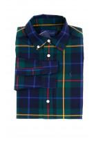 Koszula chłopięca w dużą granatowo-zieloną kratę, Polo Ralph Lauren