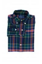 Ciepła koszula chłopięca w granatowo-zielono kratę, Polo Ralph Lauren