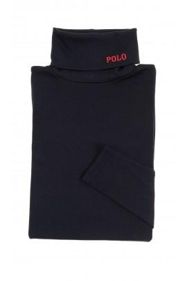 Czarny bawełniany golf, Polo Ralph Lauren