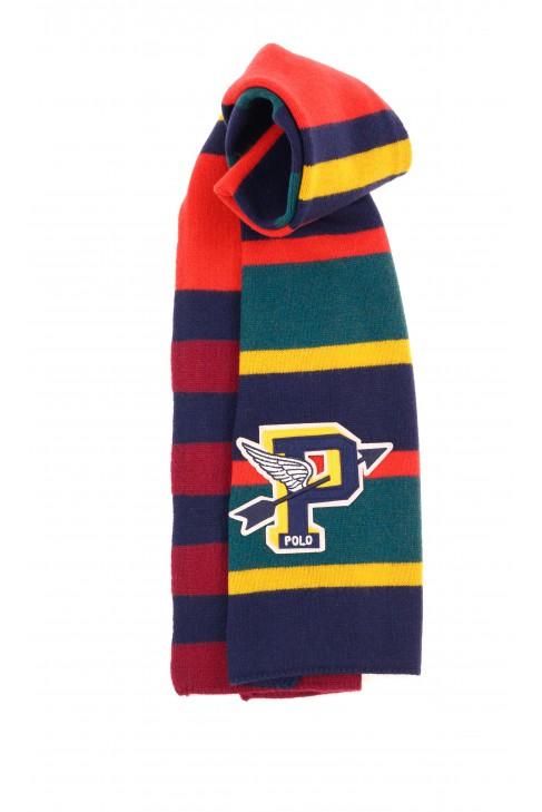 Kolorowy szal w poprzeczne pasy, Polo Ralph Lauren