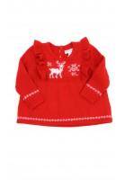 Sweterek niemowlęcy czerwony dla dziewczynki, Ralph Lauren
