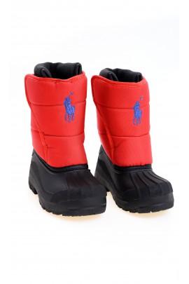 Bottes de neige pour enfants, rouges, Polo Ralph Lauren