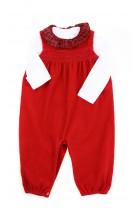 Czerwone ogrodniczki niemowlęce, Ralph Lauren