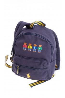 Granatowy mały plecak 1-komorowy, Polo Ralph Lauren