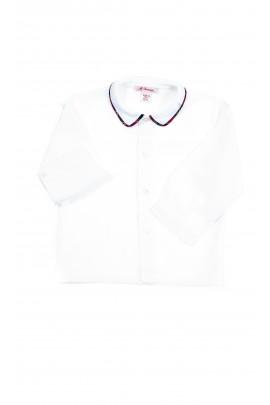Biała bluzka koszulowa z długim rękawem, Mariella Ferrari