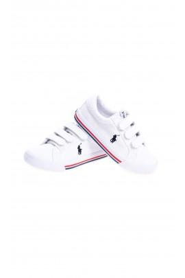 Białe tenisówki dla dzieci na rzepy, Polo Ralph Lauren