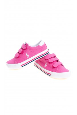 Różowe tenisówki dla dziewczynki, Polo Ralph Lauren