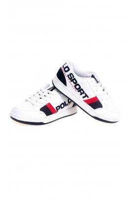 Białe eleganckie buty sportowe dla chłopca, Polo Ralph Lauren