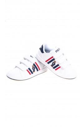 Białe eleganckie buty sportowe dla dzieci, Polo Ralph Lauren