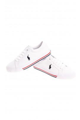 Białe sznurowane tenisówki dla dzieci, Polo Ralph Lauren