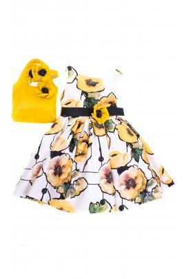 Sukienka dla dziewczynki w żółte kwiaty, Colorichiari