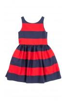 Letnia sukienka w czerwono granatowe pasy, Polo Ralph Lauren