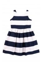 Letnia sukienka w biało granatowe pasy, Polo Ralph Lauren