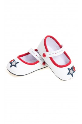 Białe balerinki niemowlęce dla dziewczynki, Tommy Hilfiger