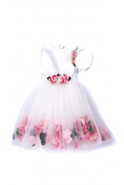 Biała sukienka dla dziewczynki na uroczystości, Lesy