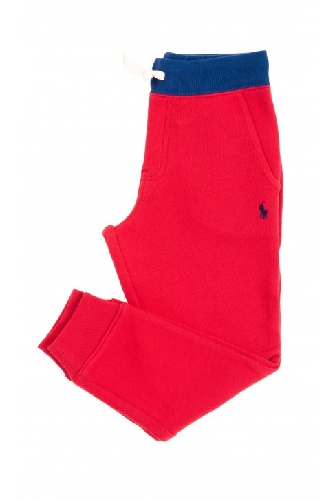 Czerwone spodnie dresowe dziecięce, Polo Ralph Lauren
