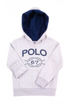 Szara bluza dziecięca z kapturem, Polo Ralph Lauren