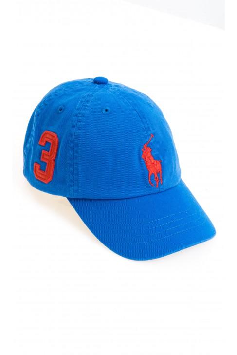 Szafirowa czapka z daszkiem, Polo Ralph Lauren