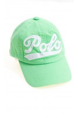 Zielona czapka z daszkiem z napisem POLO, Polo Ralph Lauren