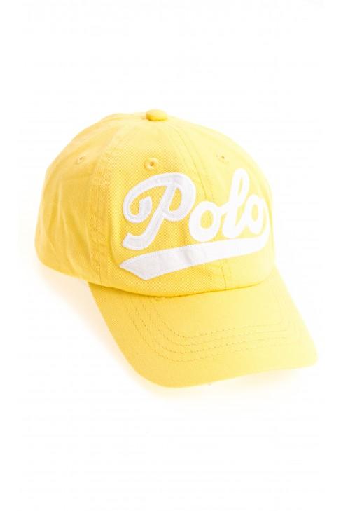 Żółta czapka z daszkiem z napisem POLO, Polo Ralph Lauren