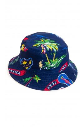 Dwustronny granatowy kapelusz dziecięcy, Polo Ralph Lauren