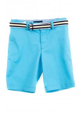 Turkusowe krótkie spodenki chłopięce, Polo Ralph Lauren
