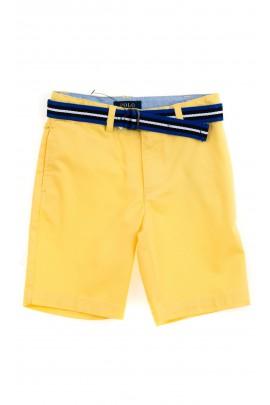 Żółte krótkie spodenki chłopięce, Polo Ralph Lauren