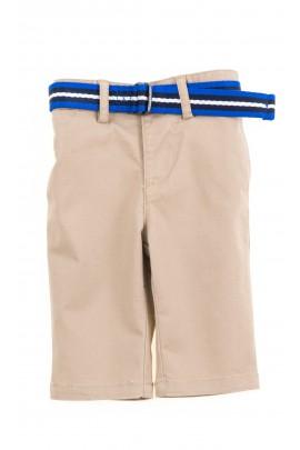 Beżowe eleganckie spodnie chłopięce, Ralph Lauren
