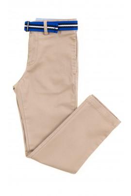 Beżowe eleganckie spodnie chłopięce, Polo Ralph Lauren