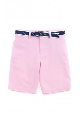 Różowe krótkie spodenki chłopięce, Polo Ralph Lauren