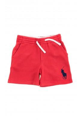 Czerwone spodenki sportowe chłopięce, Polo Ralph Lauren