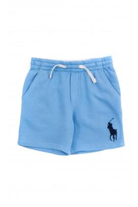 Niebieskie spodenki sportowe chłopięce, Polo Ralph Lauren