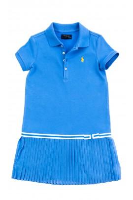 Niebieska sportowa sukienka dla dziewczynki, Polo Ralph Lauren