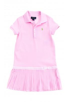 Różowa sportowa sukienka dla dziewczynki, Polo Ralph Lauren