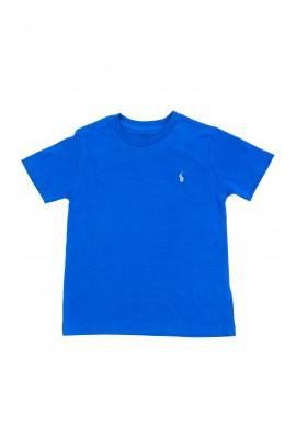 Klasyczny szafirowy t-shirt chłopięcy, Polo Ralph Lauren