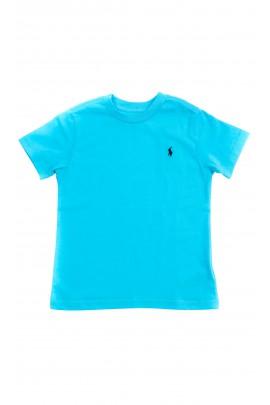 Turkusowy t-shirt na krótki rękaw chłopięcy, Polo Ralph Lauren