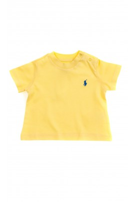 Żółty t-shirt chłopięcy na krótki rękaw, Polo Ralph Lauren