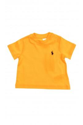 Pomarańczowy t-shirt chłopięcy na krótki rękaw, Polo Ralph Lauren