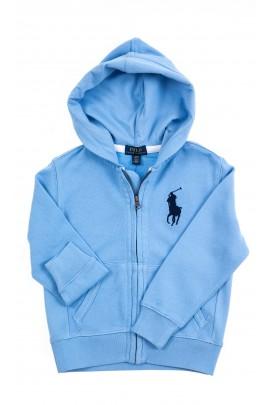 Niebieska bluza dresowa z kapturem, Polo Ralph Lauren
