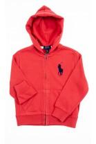 Czerwona bluza dresowa z kapturem, Polo Ralph Lauren