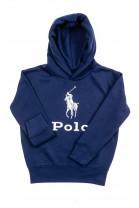 Granatowa bluza dresowa z kapturem z napisem POLO, Polo Ralph Lauren